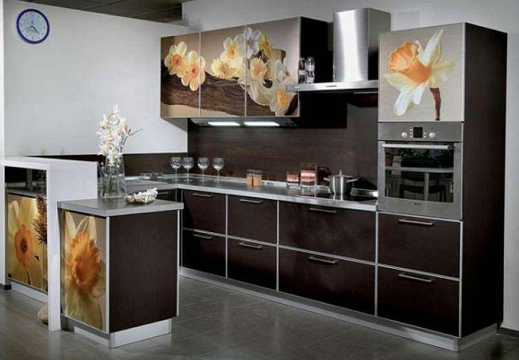 Кухни фасады с рисунком фото