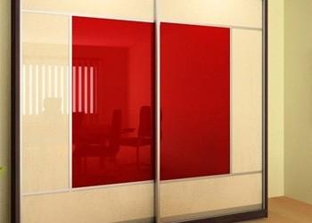 Шкаф купе с цветными/матовыми стеклами