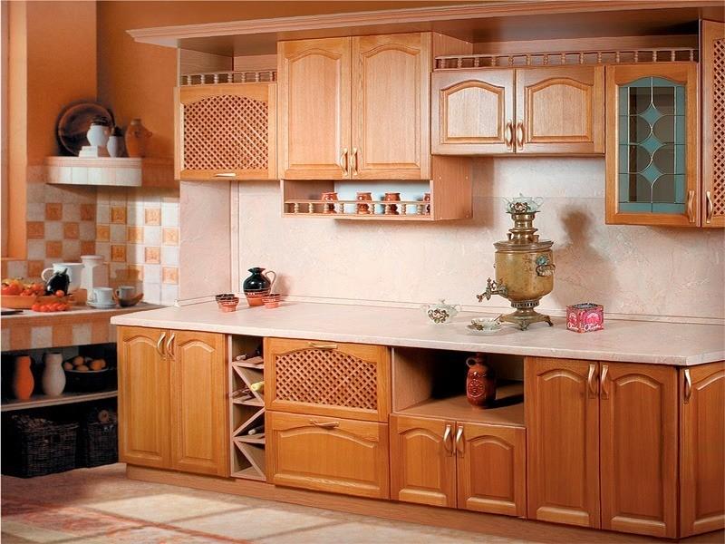 Кухни на заказ из натурального дерева в самаре
