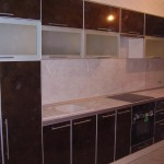Кухни фасад пластик с алюминиевым кантом