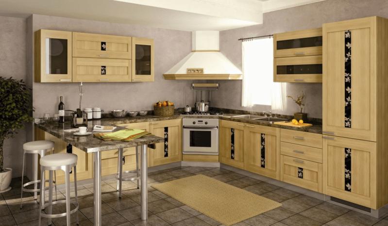 деревянная кухня - как ухаживать