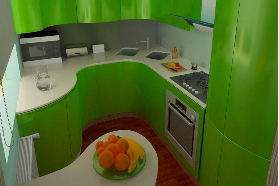 Маленькая кухня — купить кухню в Самаре или заказать?