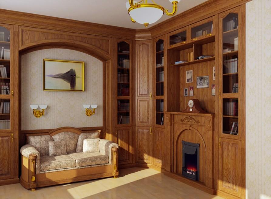 Фото встроенной мебели для кабинетов.